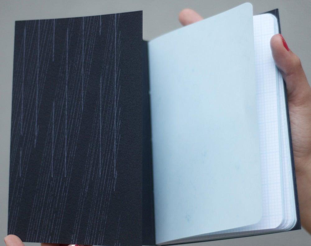 Image of letterpress scribble book