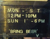 Image of Various Artists - Bring Beer LP (12XU 036-1)