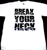 Image of Break Your Neck White/Black Mens T-shirt
