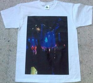 Image of Dub Police Limited Live White/Blue Photo Logo Mens T-Shirt