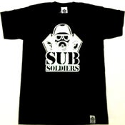 Image of Sub Soldiers Black/Silver Logo Mens T-shirt