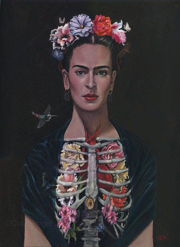 Image of Frida/Framed Original Painting