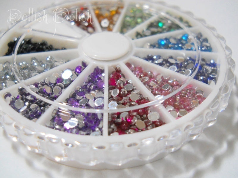 Image of 2400 Assorted Color Rhinestone Wheel