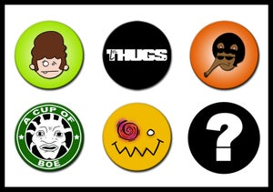 Image of Les Thugs Button Set: Series 1