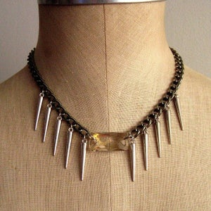 Image of Swarovski Crystal Spike Collar Necklace