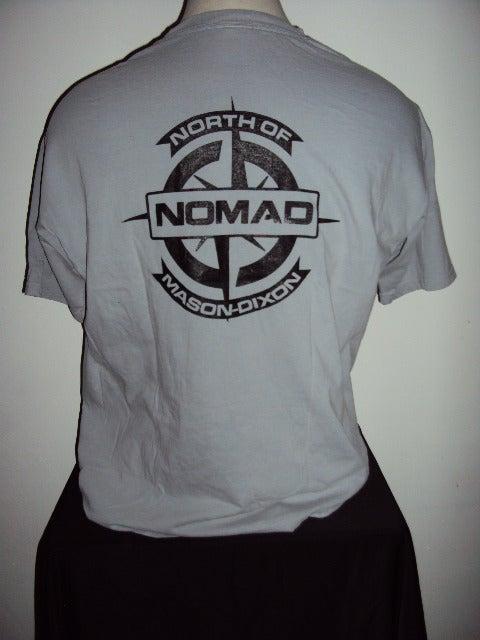 Image of NOMaD Compass Logo Grey T-Shirt