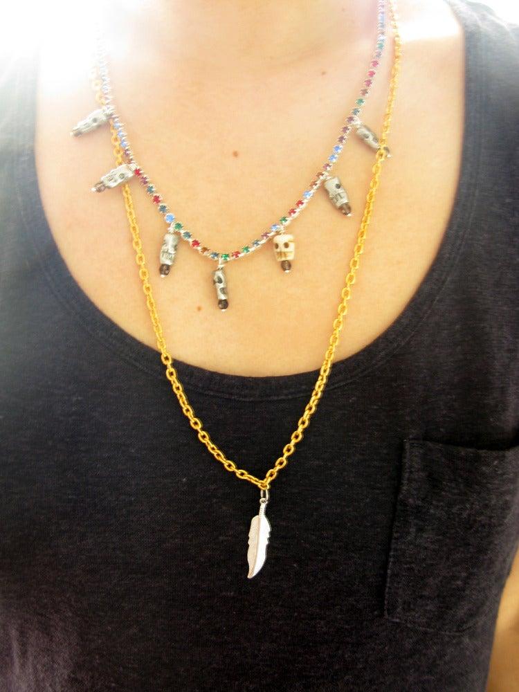 Image of Gem Skull Necklace (LIMITED)