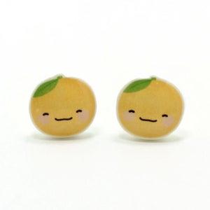 Image of Orange Earrings - Sterling Silver Posts