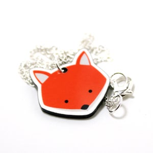 Image of Acrylic Fox Necklace