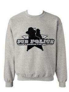 Image of Dub Police Heather Grey Mens Sweatshirt