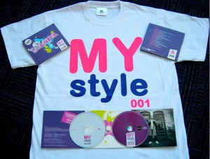 Image of DPCD001 :: Caspa: My Style 001 CD Package (White or Black T-shirt)