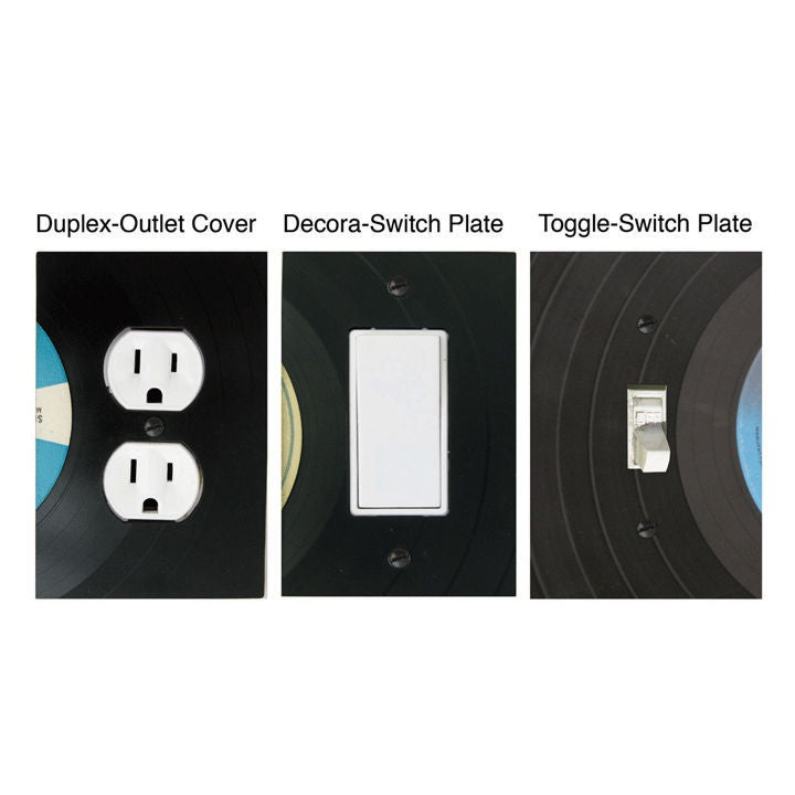 Image of Recycled Vinyl Record Switchplates and Outlet Covers