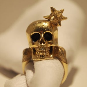 """Image of """"Macy"""" Gold Plated Brass with White Diamond"""