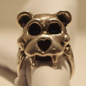 """Image of """"Teddy"""" Silver and Black Rhodium"""