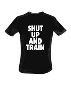Image of Mens Shut Up and Train Blk/White Tshirt