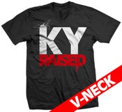 Image of KY Raised V-Neck in Black/White/Red