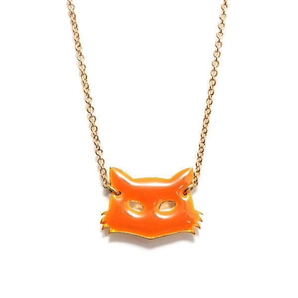 Collier masque renard - Félicie Aussi