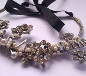 Image of Multi vintage diamante choker