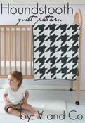 Image of houndstooth quilt PDF pattern (baby and larger version included)