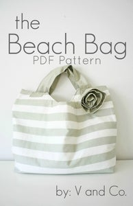 Image of the beach bag PDF pattern by V and Co.