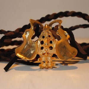 "Image of ""Pelvic Pendant"" Black & Brown Leather"