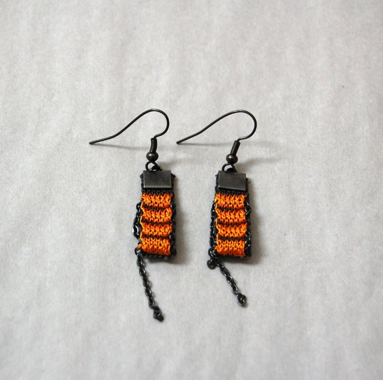 Image of One Pixel Earrings ORANGE