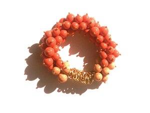 Image of Swarovski Pearl Cluster Bracelet