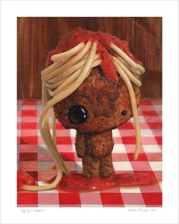 "Image of ""My Poor Meatball"" giclee print"
