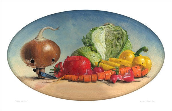 """Image of """"Slice And Dice"""" giclee print"""