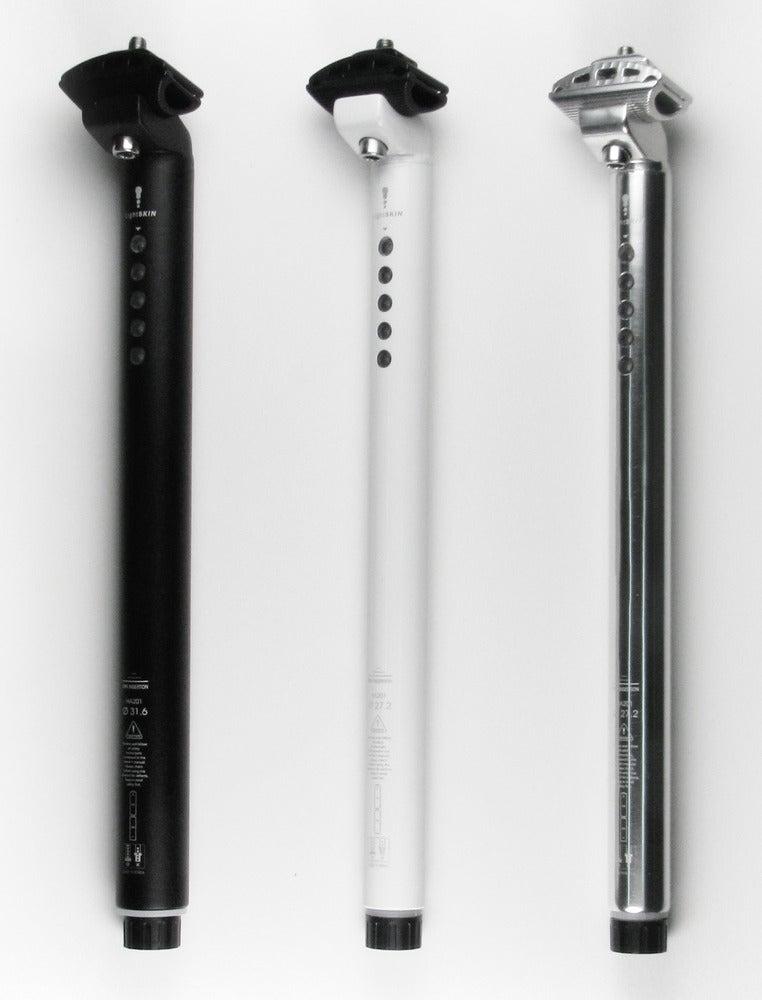 Image of LightSkin seat post with LED rear light Φ27.2mm - Black/White/Silver