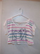 "Image of Crop Rainbow ""Love"" Tee"
