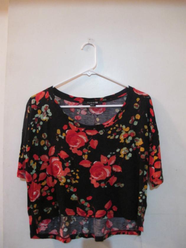 Fashion boutique floral crop top for Boutique tops