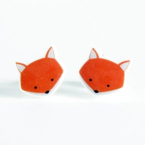 Image of Fox Earrings - Sterling Silver Posts