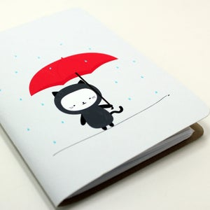 Image of Raining Kitty Pocket Notebook