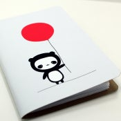 Image of Panda With Red Ballon Pocket Notebook