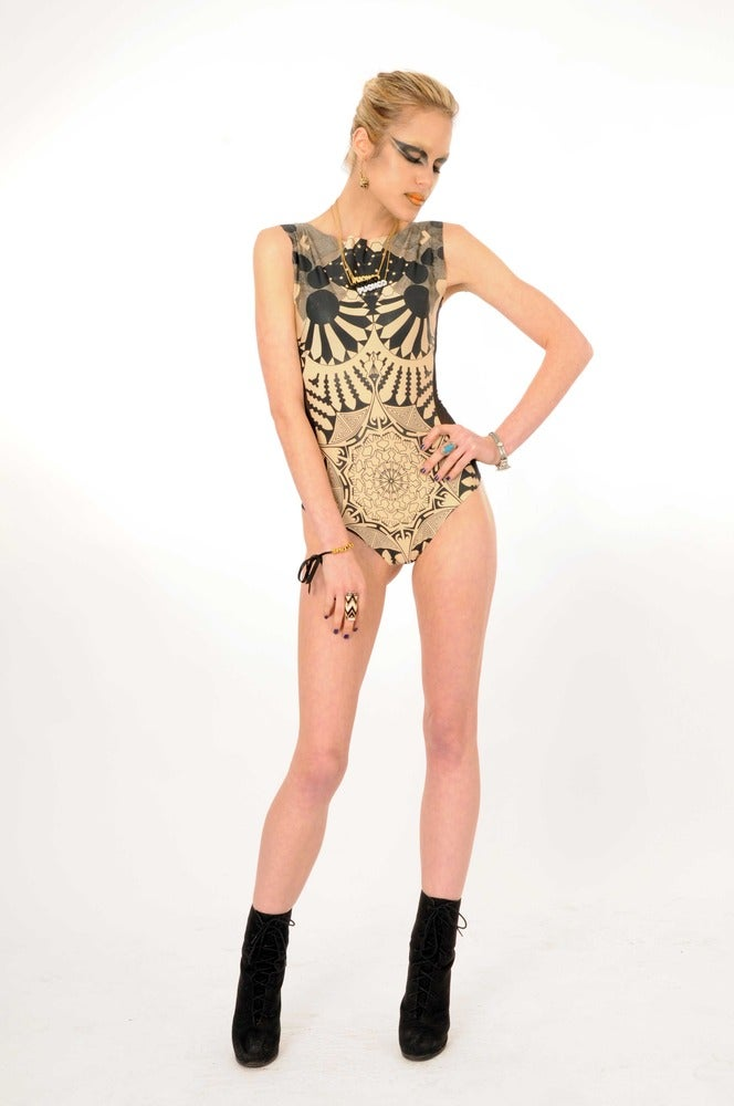 "Image of ""NEGATIVE ENTROPY"" Couture Bodysuit..."