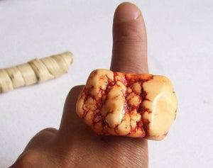 Image of Tangerine Howlite Nugget Ring