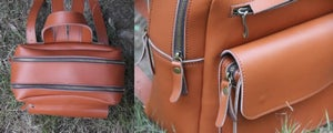 Image of Handmade Genuine Leather Backpack / Satchel / Day Pack / Travel Bag - Unisex (m54)