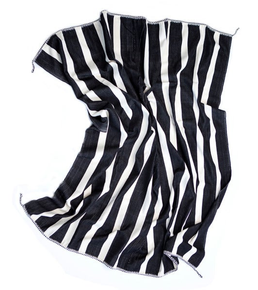 Image of KUBA STRIPE BLANKET black | white (2012)