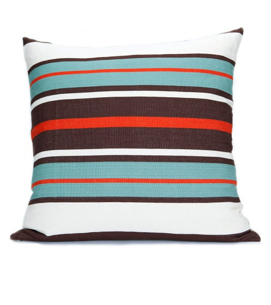 Image of MAYA CHIEF PILLOW poppy | turquoise