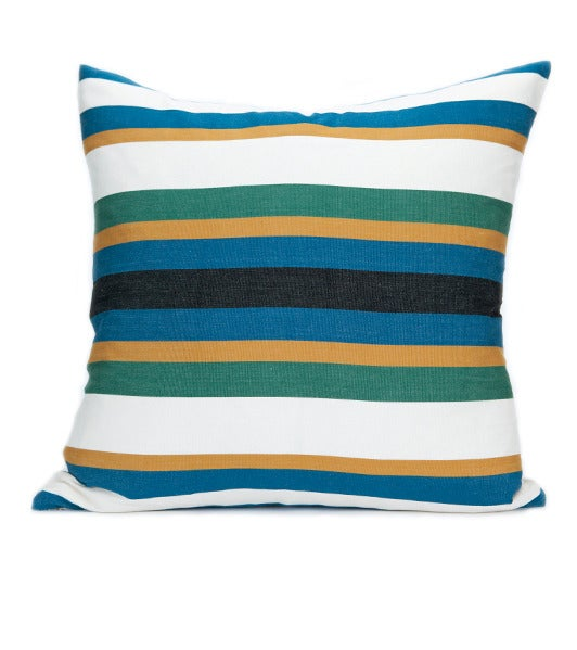 Image of QASHQAI PILLOW indigo/ emerald