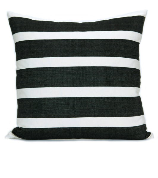 Image of KUBA STRIPE PILLOW black/ white