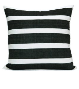 Image of KUBA STRIPE PILLOW black | white