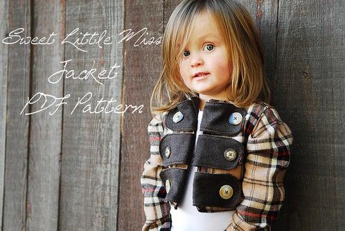 Image of Sweet Little Miss Jacket Pattern sizes 6M-6Y