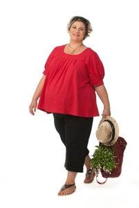 Image of Plus Maternity long line shorts