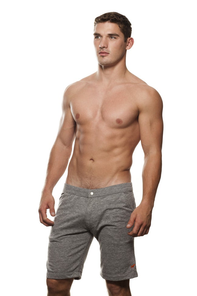 Image of guys grey heather tiny tim coach short
