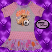Image of **SOLD OUT** Game On Soccer Puppy Dress - Size 2T/3T