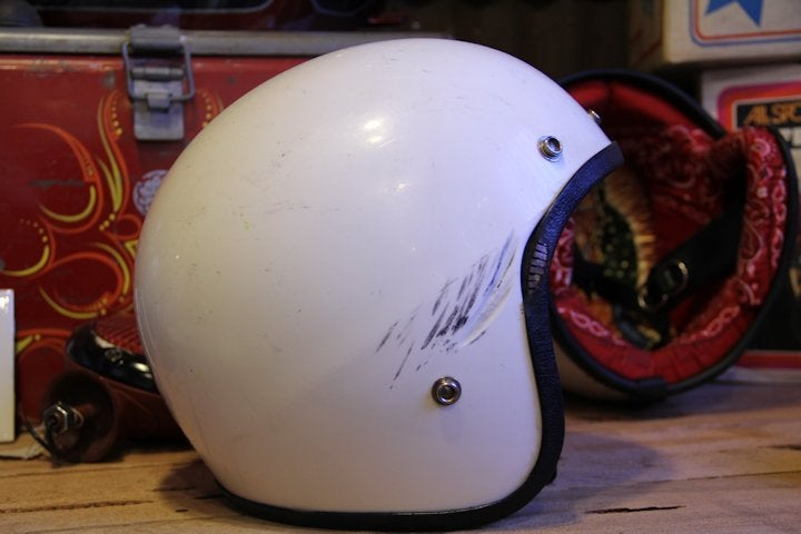 Image of 3/4  Small White Helmet