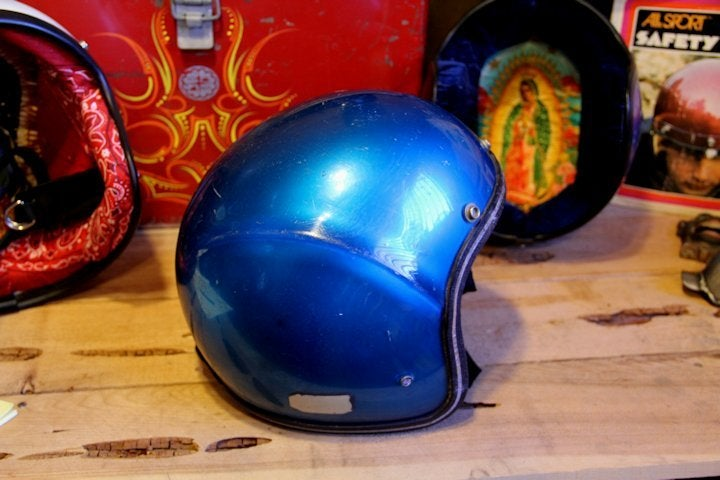 Image of 3/4 Blue Tron Helmet