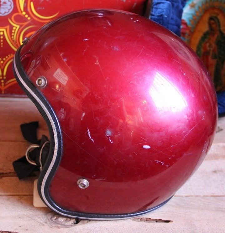 Image of DOT 3/4 Red Helmet